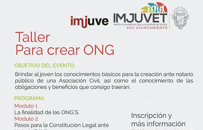 IMJUVET  abrirá taller para crear ONG