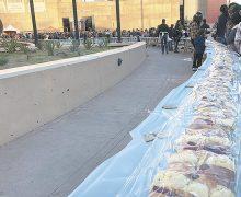 Disfrutaron de Rosca de  Reyes gigante en Tijuana