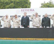 Inició adiestramiento del Servicio Militar Nacional