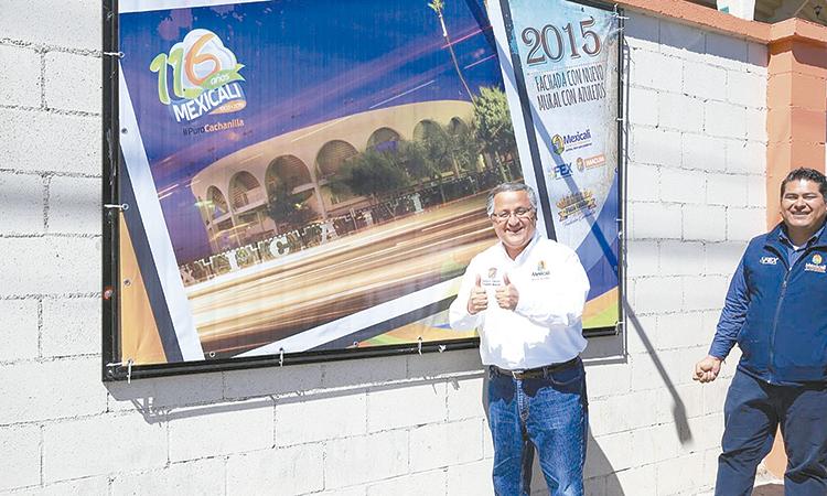 "Alcalde inauguró exposición fotográfica  ""Plaza Calafia 43 años de tradición Cachanilla"""