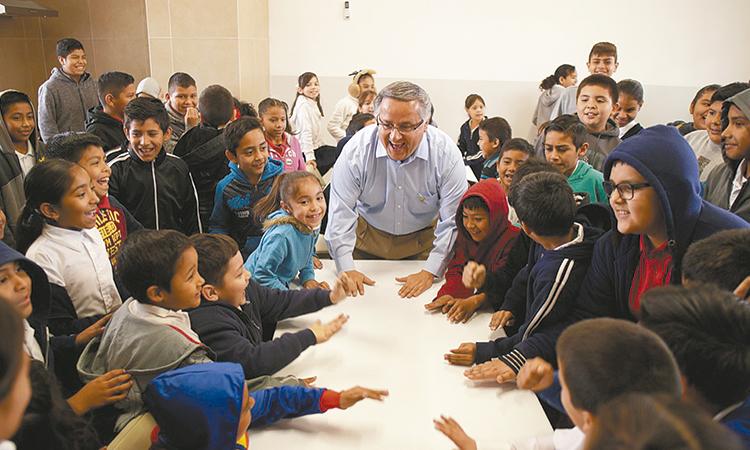 Alcalde entregó comedor  escolar en ejido Guanajuato
