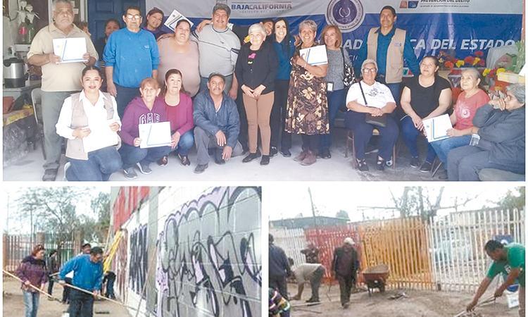 Acciones de SSPE en prevención del delito, en el Pápago