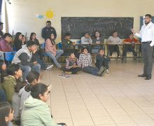 Orientación a adolescentes de Ejido Eréndira; Imjuvens