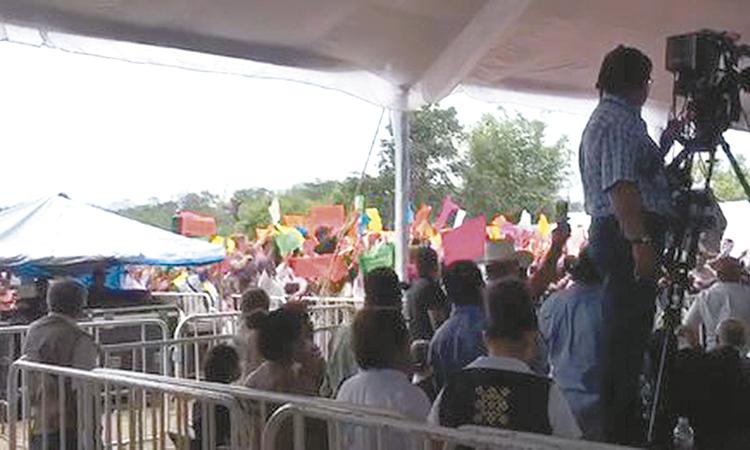 Antorcha Campesina protesta vs AMLO: ¡miente, presidente!