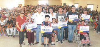 Apoyos económicos a familias  del valle de Mexicali; DIF MXL
