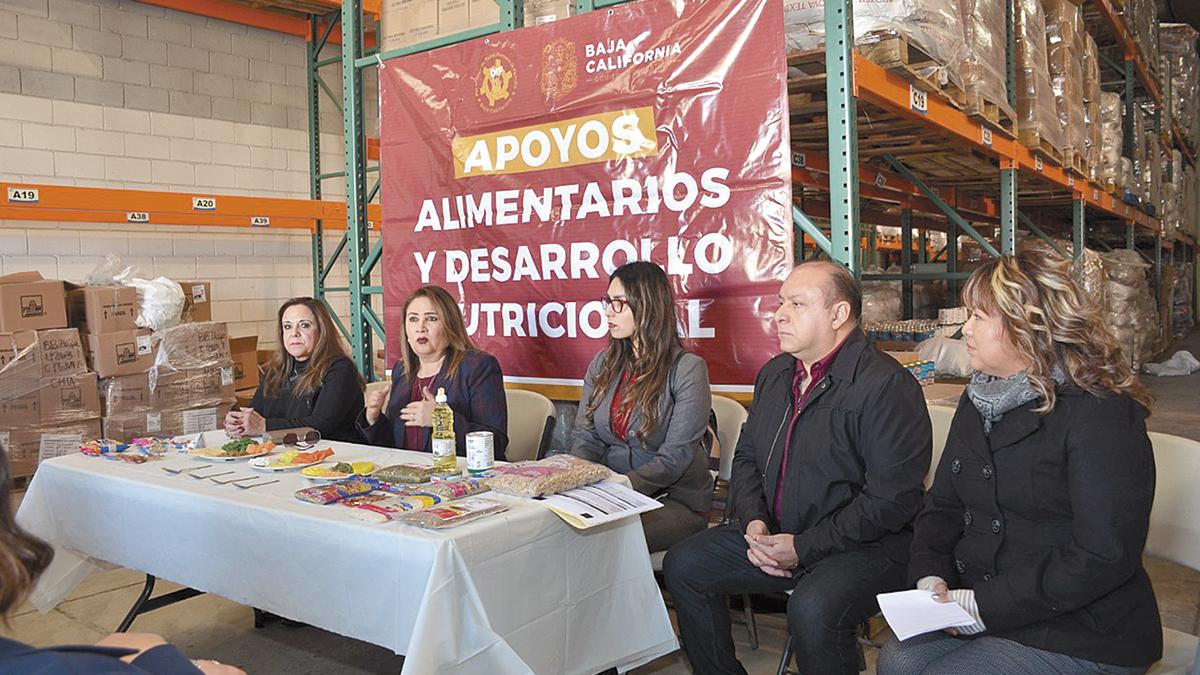 Apoyo alimentario para casas hogar  del BC-DIF