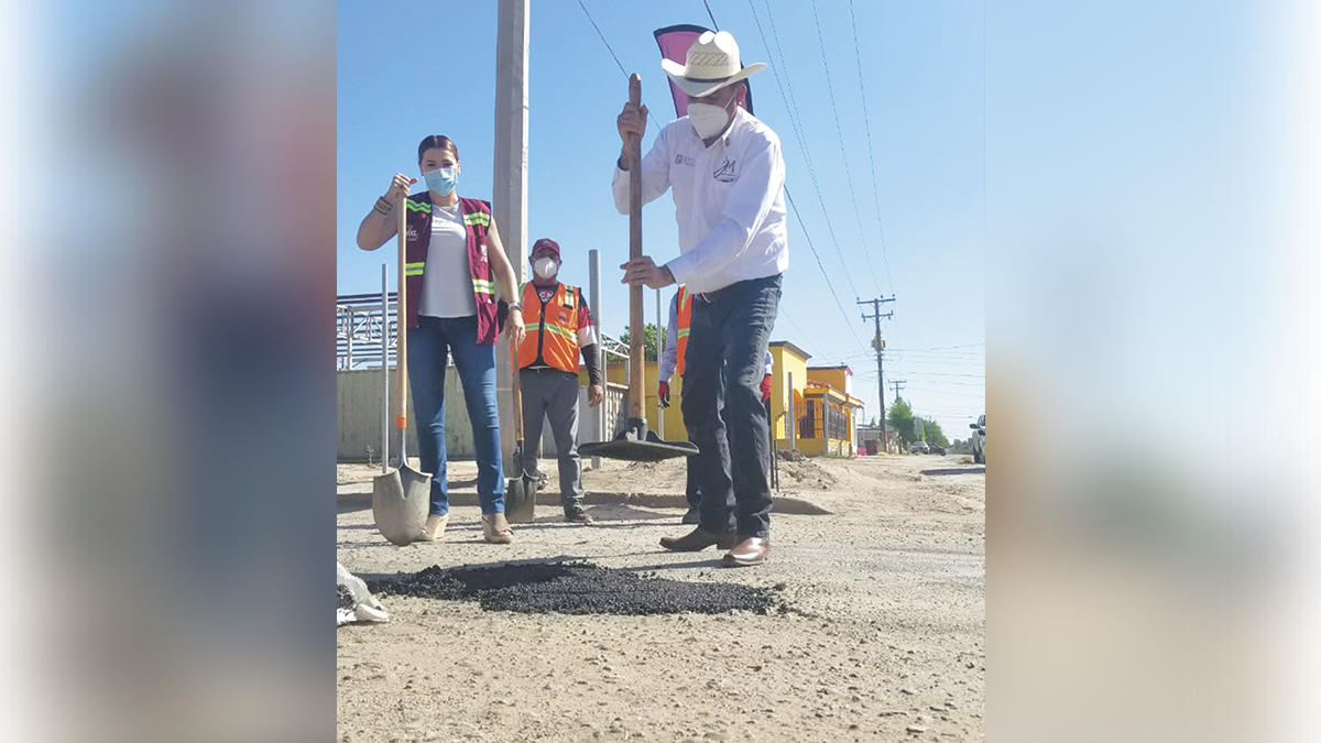 Inició programa de pavimentación y bacheo en el Km 43
