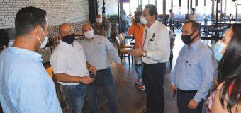 Supervisan protocolos  sanitarios en restaurantes