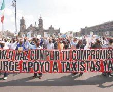 Taxistas y meseros marginados de apoyo de AMLO en CDMX y MXL
